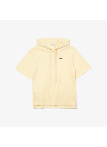 Lacoste Kadın Kapüşonlu Tişört PF8046.YZJ Sarı